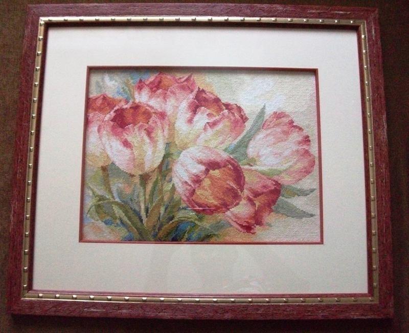 Вышивка крестом тюльпаны фото 14